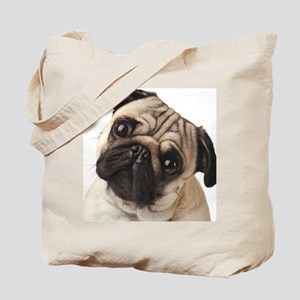 Curious Pug Tote Bag