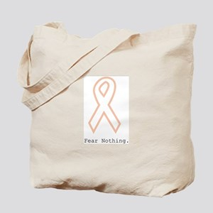 Peach Outline. Fear Nothing Tote Bag