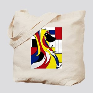 Geometric Afghan Hound Abstract Tote Bag