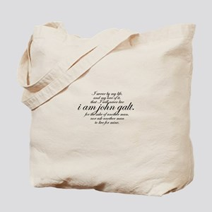 I Am John Galt Script Tote Bag
