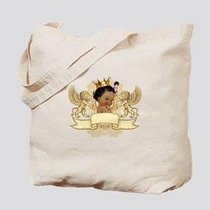 African American Royal Princess Tote Bag