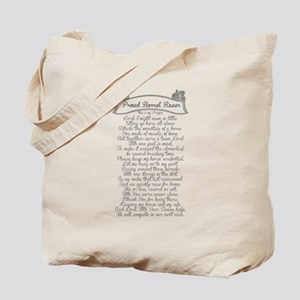 Barrel Racer Prayer Tote Bag