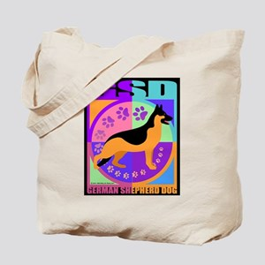 GSD Dog Breed Graphics Tote Bag