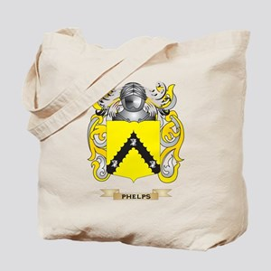 Phelps Coat of Arms (Family Crest) Tote Bag