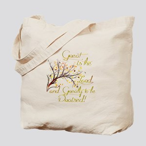 Great is the Lord Tote Bag