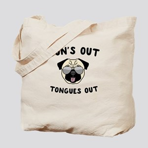 Suns Out Tongue's Out Tote Bag
