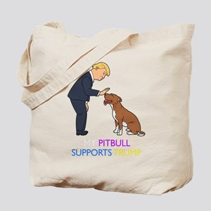 My Pitbull Supports Trump Gift Pit Bull D Tote Bag