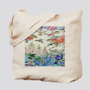 HUMMINGBIRDS_PAINTING_CANVAS_12BY14 Tote Bag