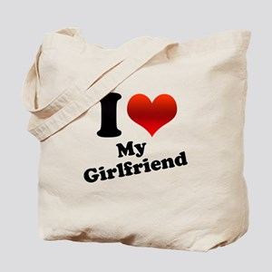 I Heart My Girlfriend Tote Bag
