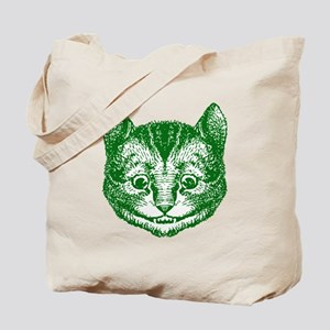 Cheshire Cat Green Tote Bag