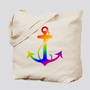 Rainbow Anchor Tote Bag