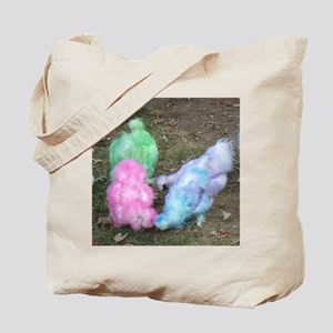 Tie Dyed Silkie Chickens in Pastel Easter Tote Bag