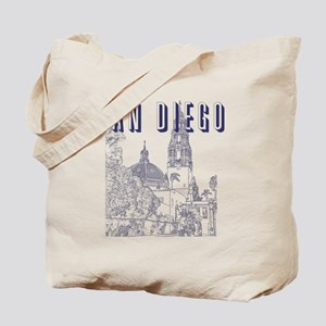 SanDiego_10x10_CaliforniaTower_Blue Tote Bag