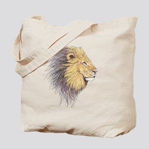 Lions Head Tote Bag