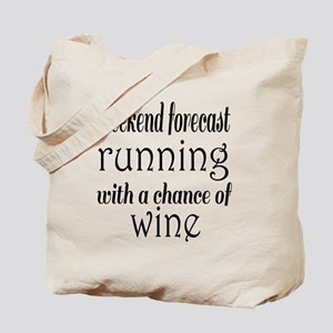 Running and Wine Tote Bag