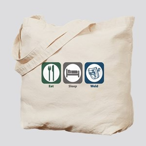 Eat Sleep Weld Tote Bag