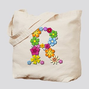 R Bright Flowers Tote Bag