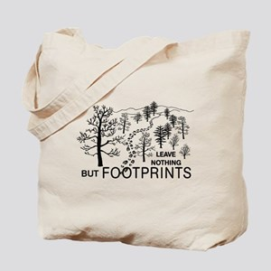 Leave Nothing but Footprints Tote Bag