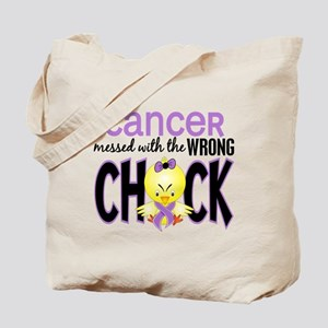 Cancer Messed With Wrong Chick Tote Bag