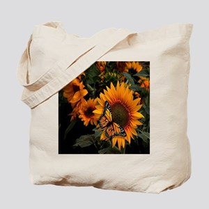 Sunflower Radiance Monarch Butterfly Tote Bag