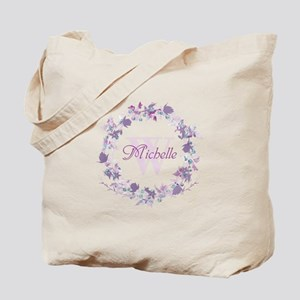 Monogram Watercolor Floral Wreath Tote Bag