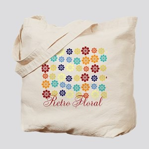 Bright Retro Floral Tote Bag