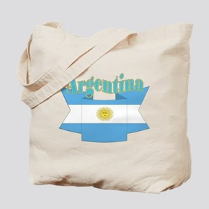 Ribbon Argentina flag Tote Bag