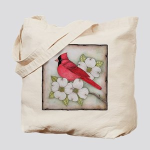 Cardinal and Dogwood Tote Bag