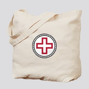 Circled Red Cross Tote Bag