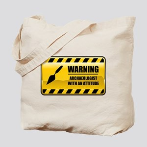 Warning Archaeologist Tote Bag