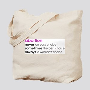 Abortion Choice Tote Bag