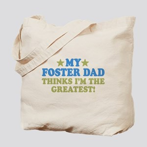 Greatest Foster Dad Tote Bag