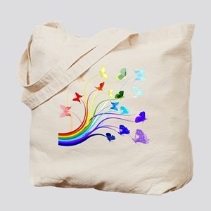 Butterflies and Rainbows Tote Bag