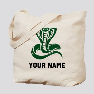 Green Cobra Snake Tote Bag