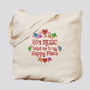 80s Music Happy Place Tote Bag