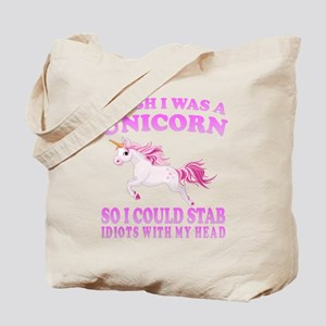 I Wish I Was A Unicorn Tote Bag