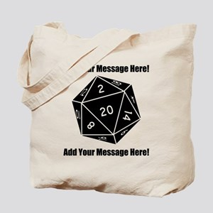 Personalized D20 Graphic Tote Bag