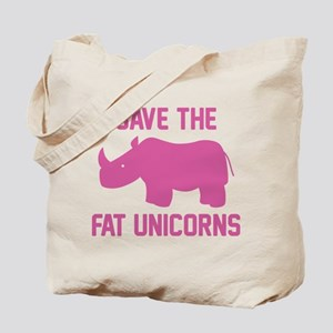 Save The Fat Unicorns Tote Bag