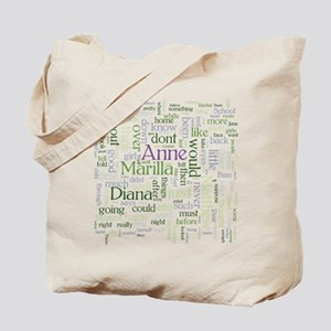 Anne of Green Gables Word Cloud Tote Bag