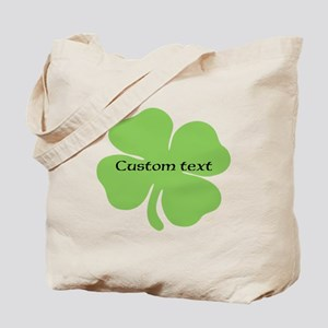 Custom St. Patrick's four leaf clover Tote Bag