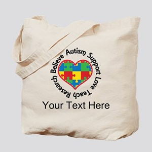 Autism Teacher Personalized Tote Bag