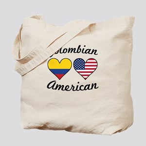 Colombian American Flag Hearts Tote Bag