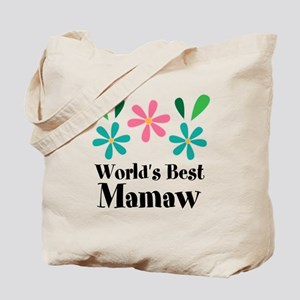 Worlds Best Mamaw Grandma Personalized Tote Bag