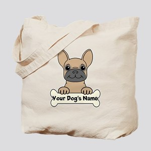 Personalized French Bulldog Tote Bag