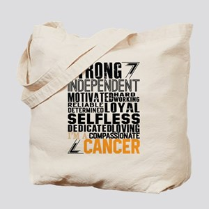 Strong Independent Motivated Cancer Tote Bag