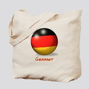 Germany Flag Soccer Ball Tote Bag