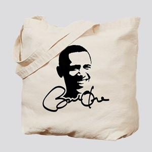Obama Autographed Picture Tote Bag