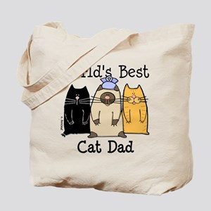 World's Best Cat Dad Tote Bag