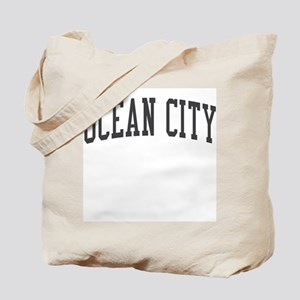 Ocean City New Jersey NJ Black Tote Bag