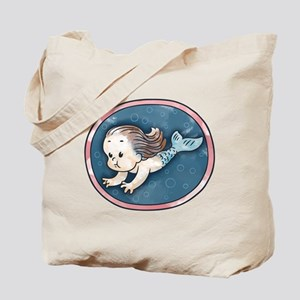 Mermaid -brunette Tote Bag